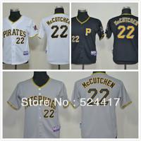 Free Shipping Youth baseball Jerseys Pittsburgh Pirates #22 Mccutchen Black Cool Base Jersey, Cheap Kids baseball Jersey