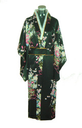 Big discount!Free shipping! Junoesque Vintage Yukata Japanese Haori Kimono with Obi One Size GZ056(China (Mainland))