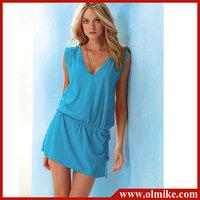 2013 Summer Women's Ladies' dresses Party Sexy Swimwear Bikini Cover Up Shirt Beach Dress free shipping