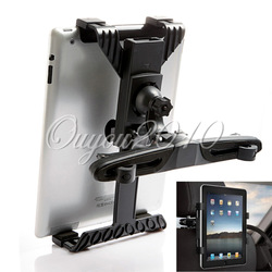 "Blcak Adjustable Car Seat Headrest Universal Holder Stand Mount Bracket Clip For i Pad 8-14"" inch Tablet PC GPS Free Shipping(China (Mainland))"