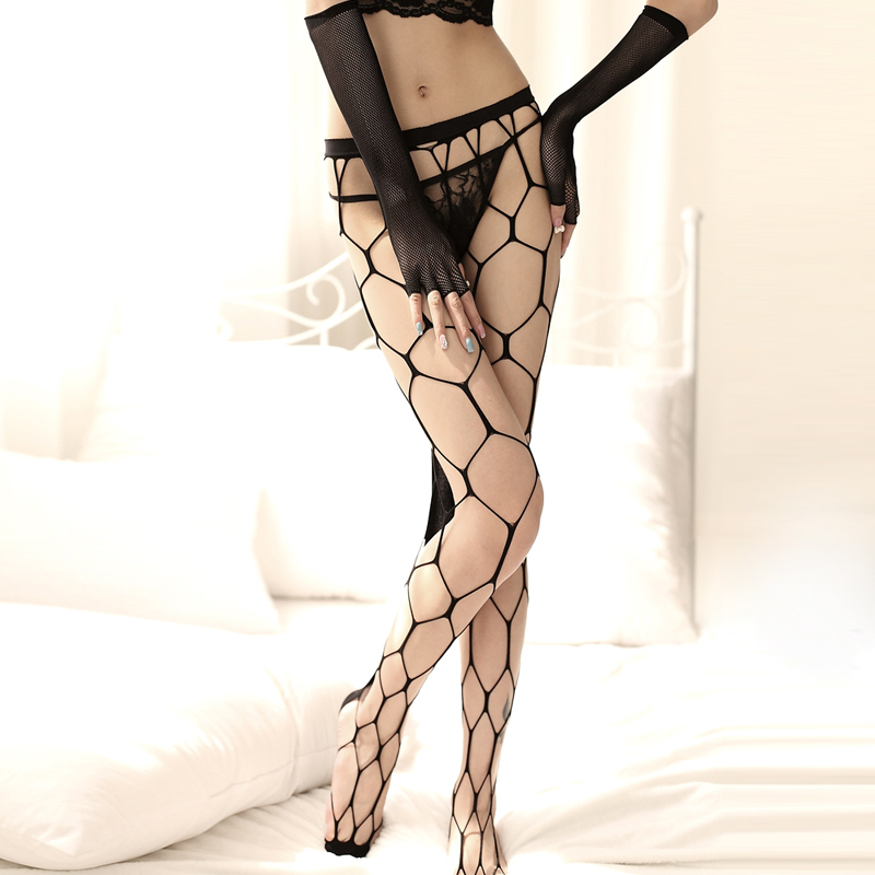 cutout sexy fishnet stockings fishing net socks large mesh pantyhose gloves(China (Mainland))