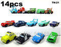 Pixar Car Figures Full Set PVC NEW 1 set=14 pcs Free shipping High Quality for Gift(China (Mainland))