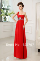 Shoulder printing Sweetheart long section of the evening dress