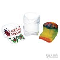 Free Shipping 8pcs/lot DIY Cotton Value White Sun Hat Funny Children's Summer Baseball Caps