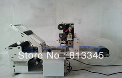 Easy operation Semi-Automatic Round Bottle Labeling Machine Date printing machine, free shipping by EMS,FEDEX,DHL,UPS(China (Mainland))