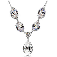 Fashion jewelry  High-grade ornaments Austrian crystal drops necklaceDrop the happiness 4430-129