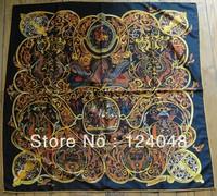 Free Shipping Gorgeous Oversiz high quality 100% silk big square scarf 90 X 90 cm shawl FFAM-18