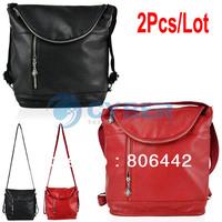 Cheap 2Pcs/Lot Multifunctional Fashion Girl Women's Casual Backpack Single Shoulder Bag Cross-Body Bag  13550