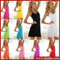 Bikini Cover Up Vest Swimwear Tank Top Sexy Halter Summer Beach Elastic Dress mix order