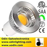 700lm 6W COB GU10 LED Spotlight Bulbs 80 Degree SAA & ETL 2 Years Warranty, dimmable, 10PCS/LOT Free Shipping