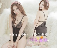 Free shipping (1set=2pcs)Baby Set Sexy Lingerie Solid Sleepwear with Thong Wholesales and Retail