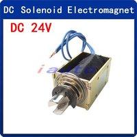 DC 24V 0.5A 10mm 55N Push Type Open Frame Solenoid Electromagnet
