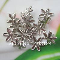 100pcs 18mm silver flower shape metal brad /DIY scrapbook brad/album brads/(Ba11)--free shipping