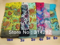 ladies fashion printe wrap head Bohemia peacock flower design muslim long scarves/scarf  180*100cm.10pcs/lot.