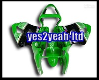 Customized fairing -Customize -ZX-6R 00-02 Fairing for Kawasaki NINJA ABS plastic tough press mould best selling green r