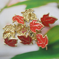 100pcs 16mm leaf shape metal brad /DIY scrapbook brad/album brads/(Ba05)--free shipping