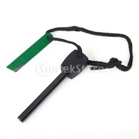 Free Shipping Magnesium Rod Fire Flint Spark Fire Starter with Iron Scraper Emergency Survival Kit
