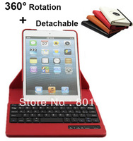 360 Degree Rotating Leather Case + Detachable Bluetooth Keyboard magnetic case for Apple New iPad Mini