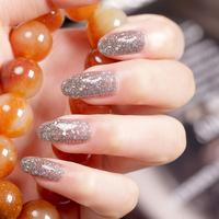 3 bottle shining paillette bgirl nail polish oil silver black l04 15ml