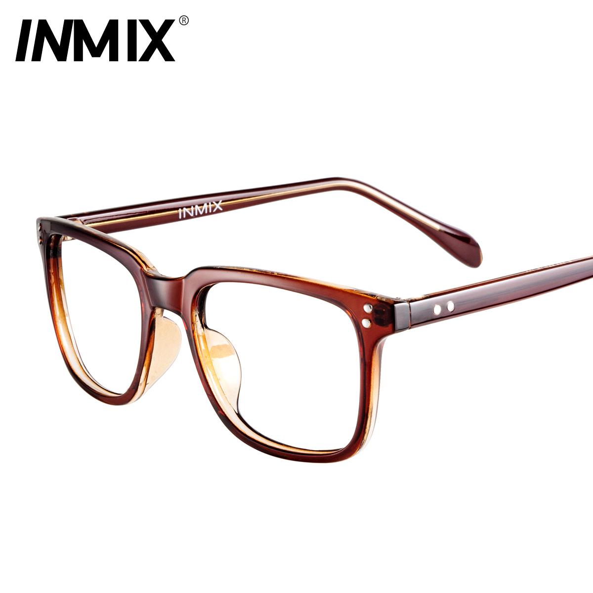 Big Frame Eyeglasses : Black big inmix box myopia glasses frame myopia Women ...