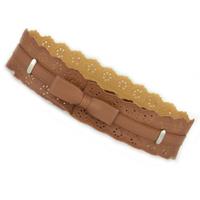 Cutout bow belt female fashion decoration cummerbund women's cummerbund wide belt