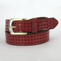 Cutout genuine leather strap fashion cowhide Women wide belt women's all-match belt