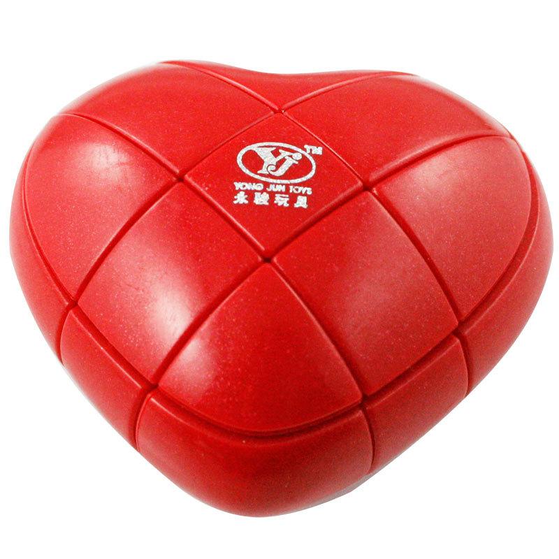 Tyranids sankai 's magic cube gift box set heart magic cube peach magic cube lovers gift(China (Mainland))