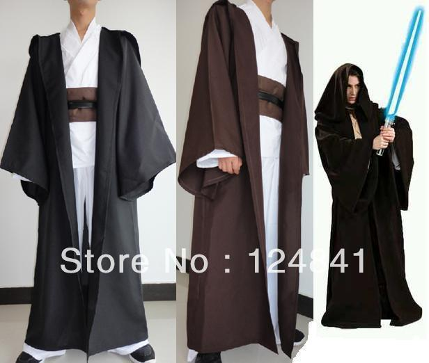 NEW STAR WARS JEDI/SITH Hooded Costume Robe Cloak Cape ChristmasPartyGift(China (Mainland))