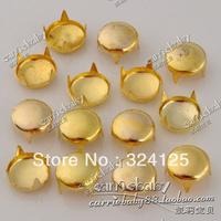 Factory direct 500pcs brass DIY 5MM pyramid circular nail and Rivet Punk Bag Belt Leathercraft Free shipping