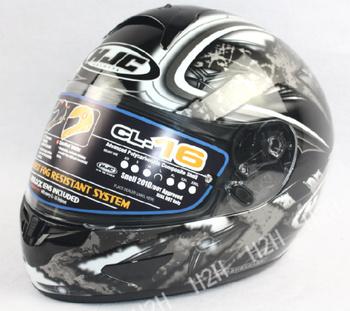 Free shipping,SNELL certified motorcycle helmets * HJC helmet * Full Face Helmet * CL-16-SHOCK red  T299