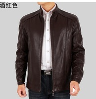 Free shipping!!! 2013 brand men's casual collar leather jacket, Spring and Autumn coat