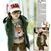 Free shipping 4pcs/lot tigger sweatshirt children baby boys tops cartoon cotton long sleeves T-shirt boys tiger Kids Clothing