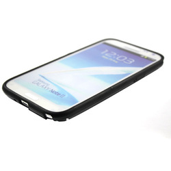 DropShipping New Black TPU Frame Bumper Cover Case Skin For Samsung Galaxy Note 2 GT-N7100 DC1060B Free shipping(China (Mainland))