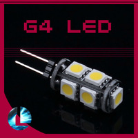 10pcs/lot Free shipping  G4 9 SMD LED 5050 White Light Home Car RV Marine Boat Lamp Bulb DC-12V Wholesale