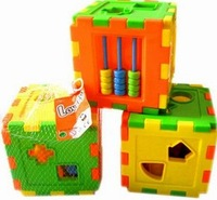 Mental case 10 shape mental case square blocks toy