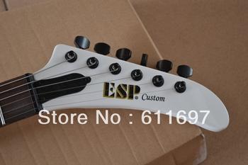 2014 new arrival + free shipping + gutiar factory + ESP explorer custom shop electrc guitar james hetfield explorer white guitar