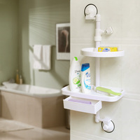 On Sell-- combination frame shower suction cup storage rack combination shelf 1896 new arrival
