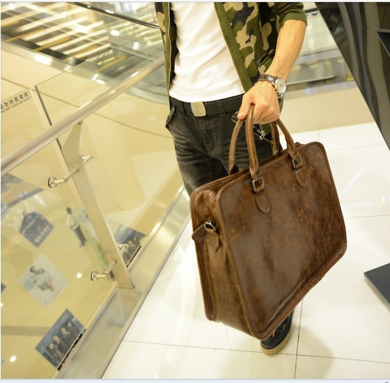 2012 man bag shoulder bag messenger bag casual handbag fashion all-match personality commercial laptop bag(China (Mainland))