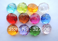 Free Shipping!!Wholesale 16MM Mixed Color 312PCS Acrylic Flat Chunky Beads,Hot Sale Fashion Round Faceted Chunky Acrylic Beads!!