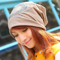 hiphop hip-hop turban cap straight cap toe cap covering cap women's pocket hat