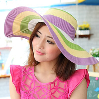 large brim straw braid strawhat women's sun hat sun hat