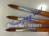 Free Shipping !!hotsale 10pcs/lot wholesale #16 kolinsky acrylic nail brush for nail painting
