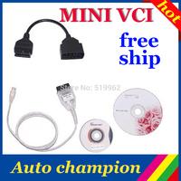 2013 MINI VCI FOR TOYOTA TIS Techstream v7.10.030 MINI VCI J2534 OBD2 diagnostic tool with 22 PIN OBD CABLES --- free shipping