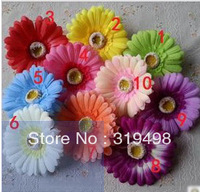100pcs Artificial Simulation Silk Gerbera Jamesonii African Daisy Flower Head Wedding Christmas Party 10cm 10 colours can choose