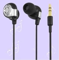 Black In-ear Headset Noise Isolating Earphones 3.5mm Earbud