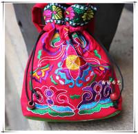 Unique fabric embroidered women's handbag national trend handbag gift