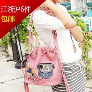 2013 autumn korean princess carriage bucket bag handmade bags women's handbag