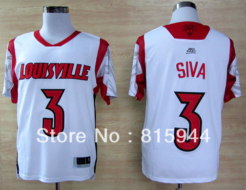 Ncaa Louisville Cardinals #3 Peyton Siva white basketball college jerseys size s-xxxl mix order free shipping(China (Mainland))