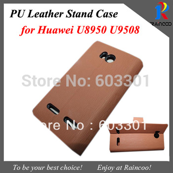 PU leather case for Huawei U8950D, For huawei 8950 cover case, free shipping