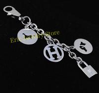 Free Shipping Fashion Key Chains Brand Bag Charms Famous Accessories Logo Printed High Qulity Original(Dust Bag ,Gift Box) #HK05